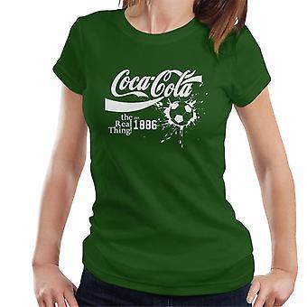 Coca Cola bal Real Thing witte tekst Women's T-Shirt