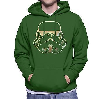 Oprindelige Stormtrooper hjelm bladguld mænds hættetrøje