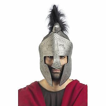 Srebrny kask specjalne rycerz kask straży nos Rycerz Wojownik