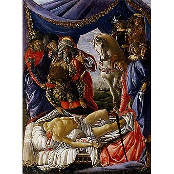 Открытие тело Олоферн, Сандро Боттичелли, 50x40cm