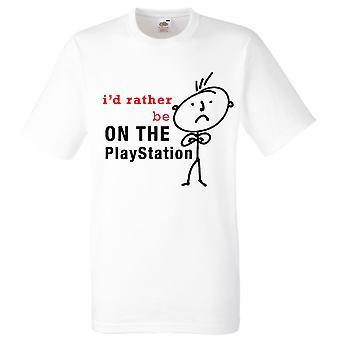 Mens jag skulle hellre vara på den Playstation Vita-Tshirt