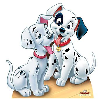 Chiots dalmatiens - Les 101 Dalmatiens grandeur nature en carton Découpe / Standee