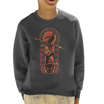 Marvel Black Panther Nakia And Okoye African Style Art Kid's Sweatshirt