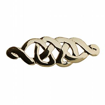 Oro 9ct 12x40mm Celtic knot spilla