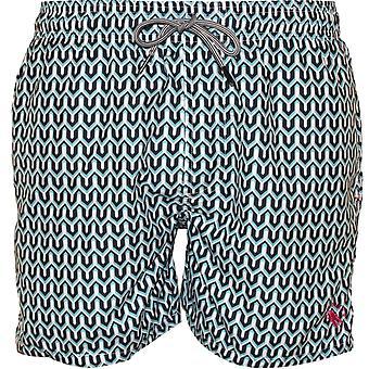 Ted Baker Geo Print svømme Shorts, turkis