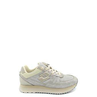 Lotto Ezbc139009 Women's Silver Leather Sneakers