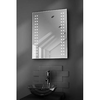 Doubleline Shaver Bathroom Mirror With Clock, Demister & Sensor k187