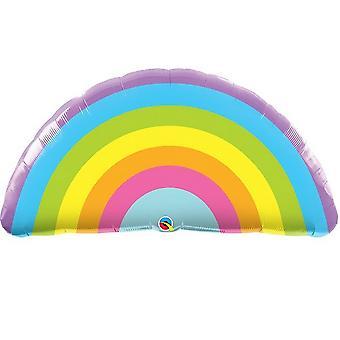 Qualatex 36 inch stralende regenboog supershape folie ballon