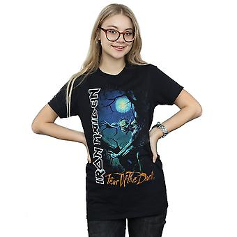 Iron Maiden kvinnors rädsla för Dark pojkvän Fit T-shirt