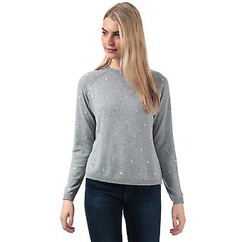 Womens Vero Moda Hera Crew Neck Jumper In Light Grey Melange