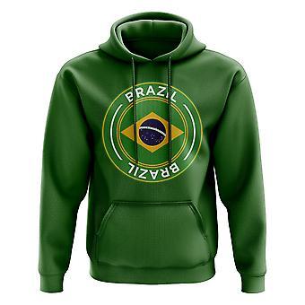 Brasilia jalka pallo Badge huppari (vihreä)