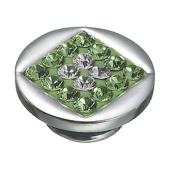 KAMELEON Peridot Diamond Sparkle Sterling Silver JewelPop KJP55