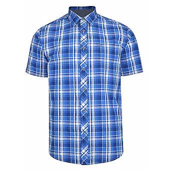 PETER GRIBBY Peter Gribby Seersucker Check Short Sleeve Shirt