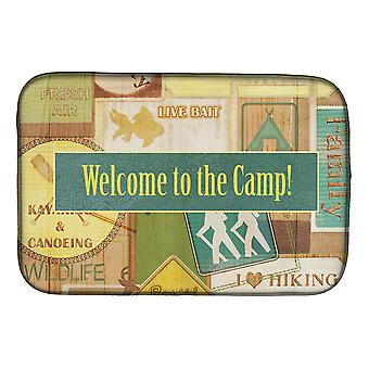 Carolines Treasures  SB3080DDM Welcome to the Camp Dish Drying Mat