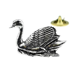 Łabędź angielski Pewter Klapa Pin Badge