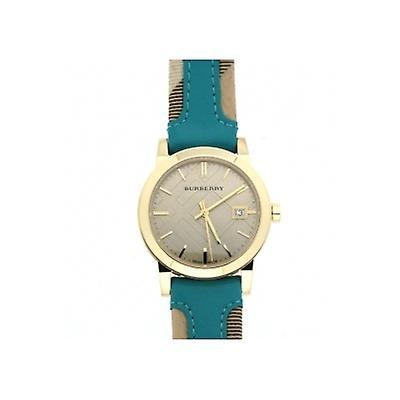 Burberry Bu9112 Ladies Blue Leather Strap Watch