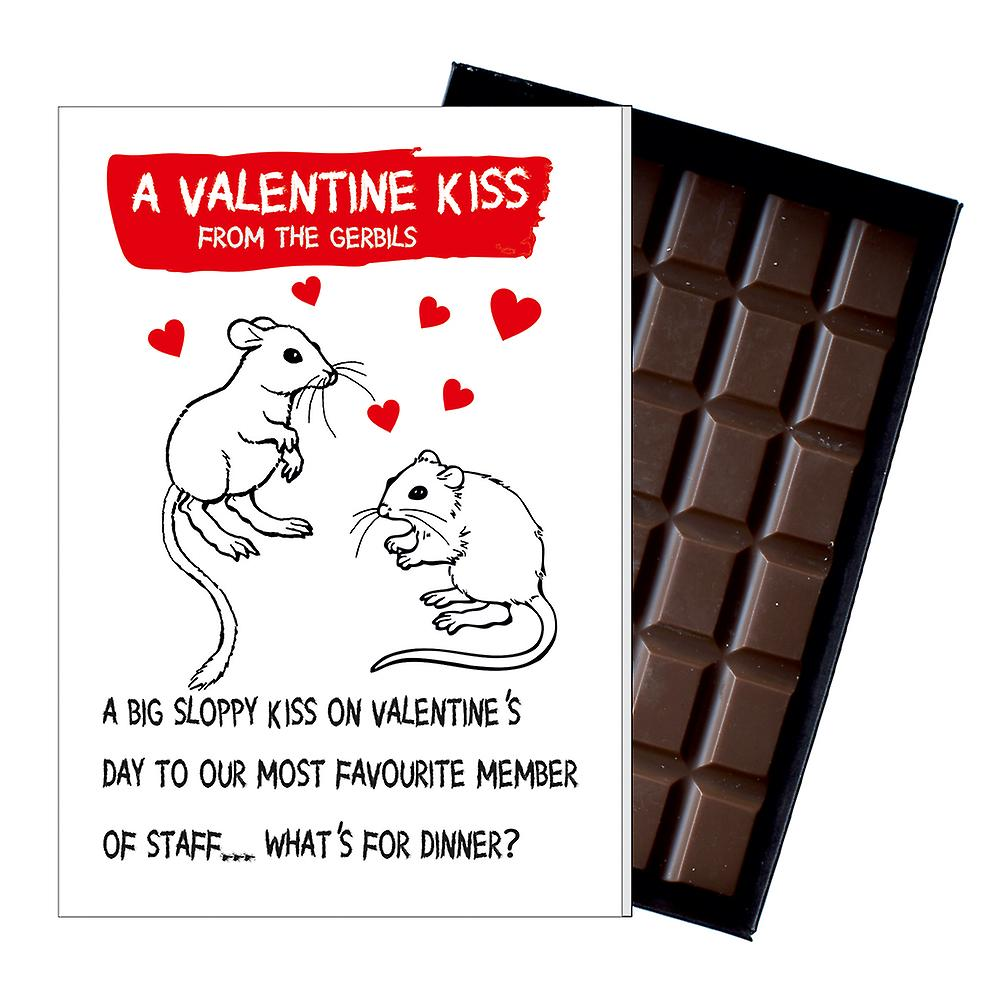 Valentine?s Day Gift A Present from the Gerbils Boxed Chocolate Greeting Card Present ODV205