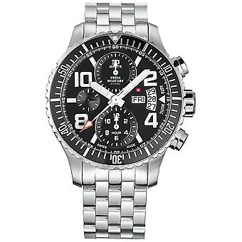 Swiss Military Swiss Automatic Analog Man Watch with SMA30005.05 Stainless Steel Bracelet