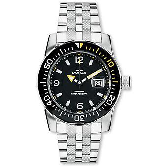 Mondia Wave Quartz Analog Men Watch with Stainless Steel Bracelet 1-690-3