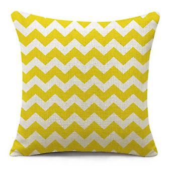 Wellindal Cushion Cover Old Ziga  Yellow (Decoration , Cushions)