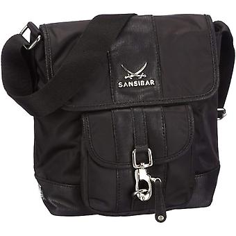 Sansibar Typhoon B-341 TY 01 Women's shoulder bag 22 x 24 x 9 cm (L x A x P) Black (Schwarz (black)) 22x24x9cm (L x x A x P)