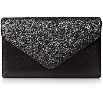 SwankySwans Womens Kelly glitter bag clutch party Prom black clutch bag (Black (Black)) Single size