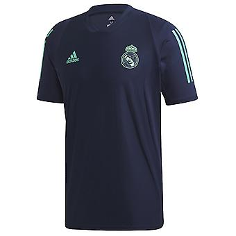 2019-2020 Real Madrid Adidas trenings skjorte (Night Indigo)