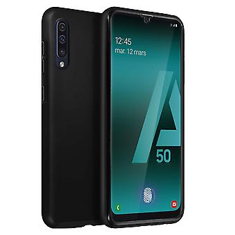 Silicone case + back cover in polycarbonate for Samsung Galaxy A50 – Black