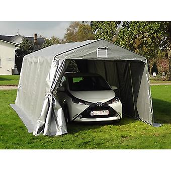 Portable garage Basic 3.3x4.8x2.4 m PE, Grey