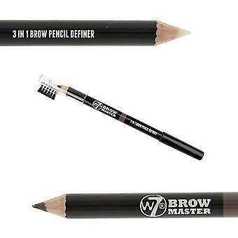 W7 Brow Master 3 In 1 Brow Pencil Definer Blonde