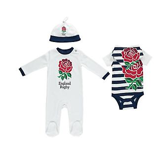 Inglaterra RFU Rugby Baby 4 pedaço Gift Set | 2019/20