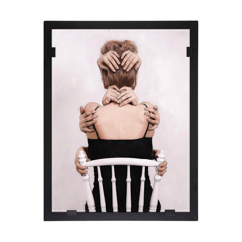 Glasvision - Tavla - Konstglas -  Håll om mig Design Yvonne Heinonen