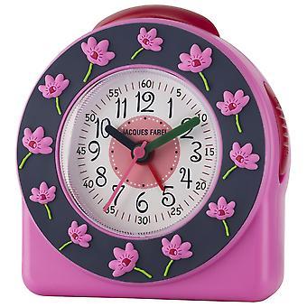 JACQUES FAREL Children's Alarm Clock Alarm Clock Analog Quartz Flower Girl ACW 301 Pink