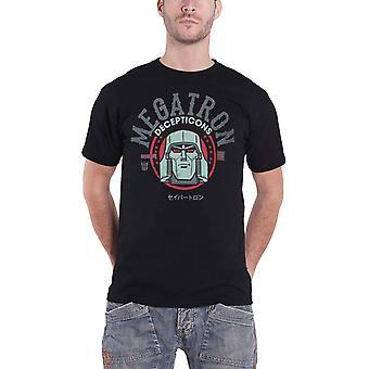 Transformers T Shirt Megatron Decepitcons Logo new Official Mens Black