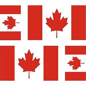 4 X tarra tarra moottori pyörä auton Valise PC kannettava Kanadan lippu