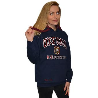 Ou129 licensed unisex oxford university™ hooded sweatshirt navy