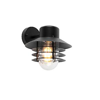 QAZQA Modern outdoor wall lamp black IP44 - Prato Down
