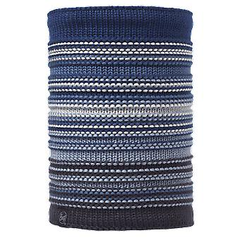 Buff Neper Knitted Neckwarmer Blue Ink