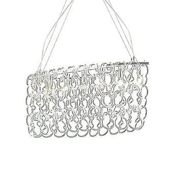 Ideal Lux - Alba Chrome et verre sept pendentif ovale lumineuse IDL007151