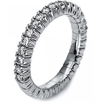 Diamantring-18K 750/-witgoud-0,49 CT. Maat 52