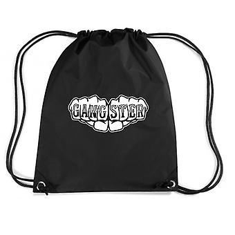 Black backpack fun1546 gangster knuckles tattoo
