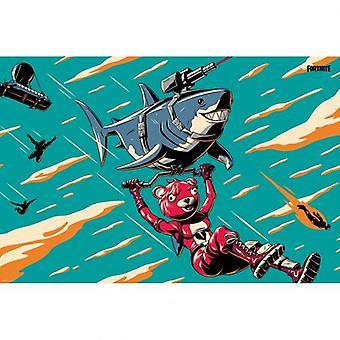 Fortnite Poster Laser Shark 113