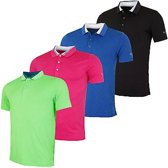 Puma Golf Mens Tailored Tipped Golf DryCell Tech Polo Shirt
