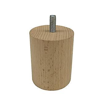 Runda trämöbler ben 7 cm (M8) (4 stycken)