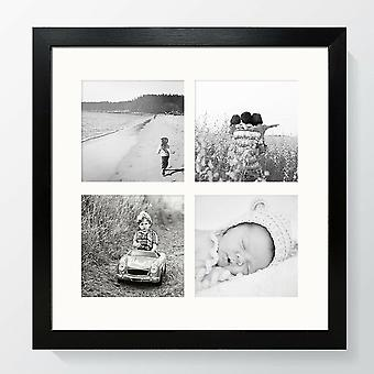 Multi Aperture Photo Frame Instagram Wall Oxford Black Square Picture Collage