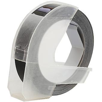 Prestige kaseta™ s0898130 biały na czarnych taśmach wytłaczających (9mm x 3m) kompatybilny z dymo s0717930 omega home & s0717900 junior płaskowyże