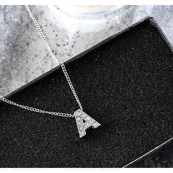 Kristall geschmückt Alphabet erste Halskette