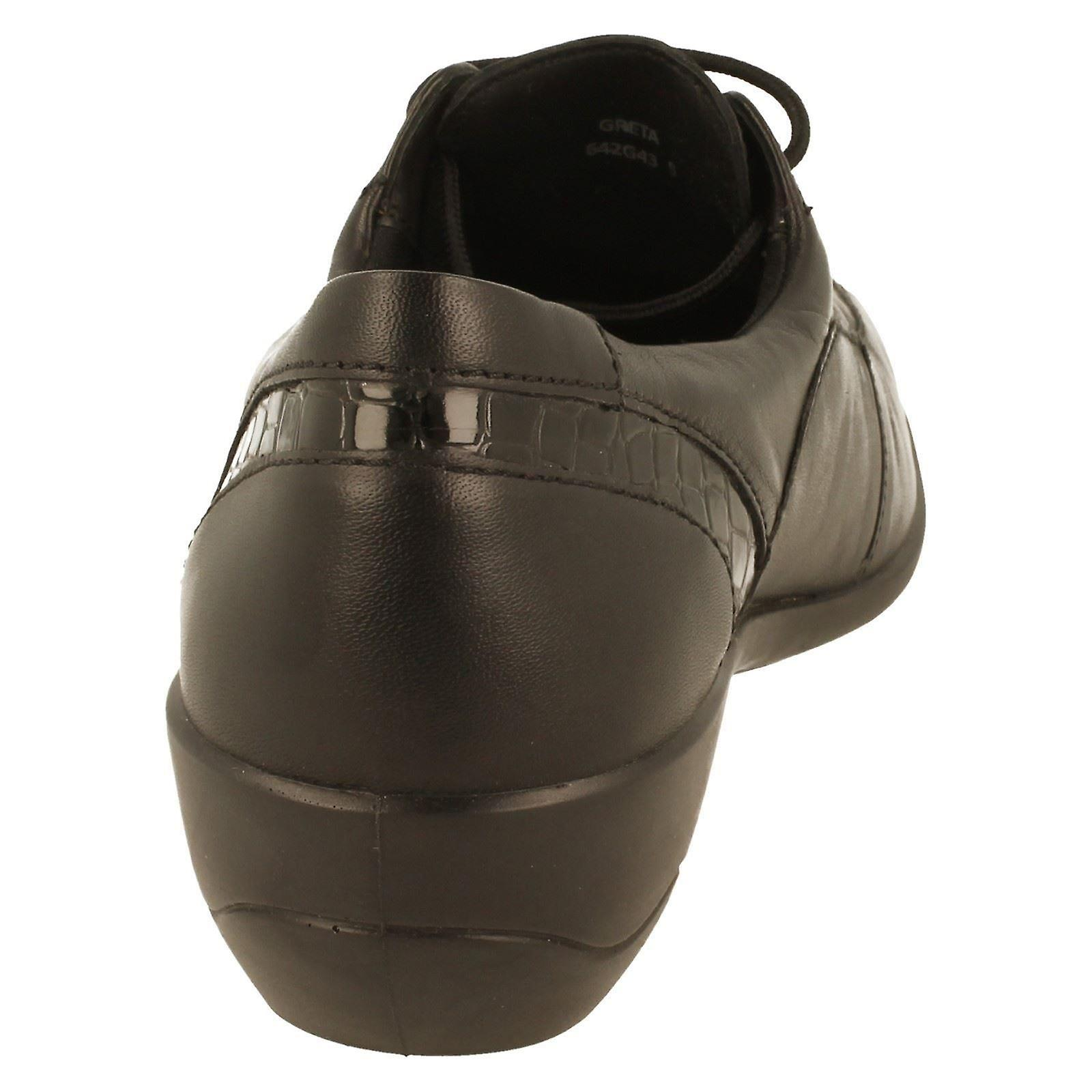 Ladies Padders Extra Wide Fitting Low Heel Shoe Greta - Gratis verzending o6g7FU