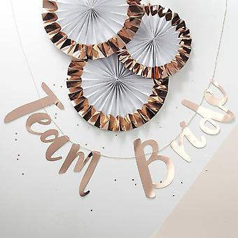 Hen Party Bunting Rose Gold Backdrop - Team Bride - 1.5m