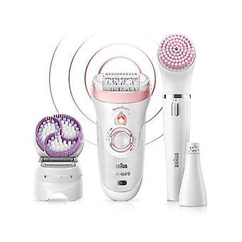 Elektrisk hår Remover Braun 9975 skønhed sæt genopladelige hvid